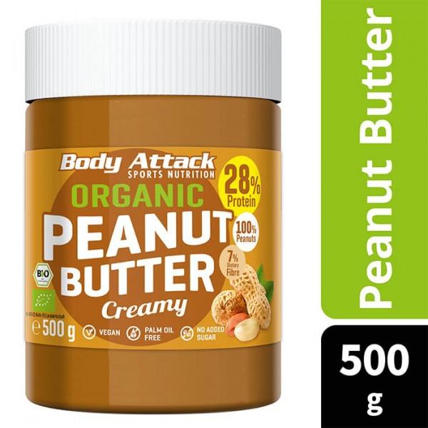 BODY ATTACK Organic Peanut Butter Creamy 500g
