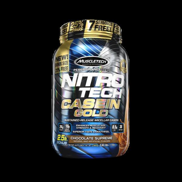 MUSCLETECH - Performance Series Nitro Tech Casein Gold, 1152g -Chocolate Supreme Proteine
