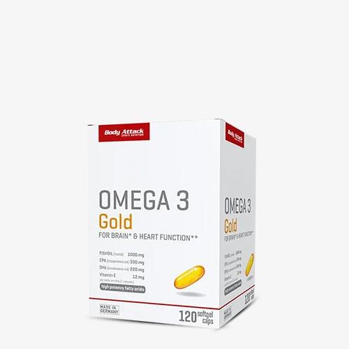 BODY ATTACK Omega 3 Gold 120 Kapseln Health Produkte