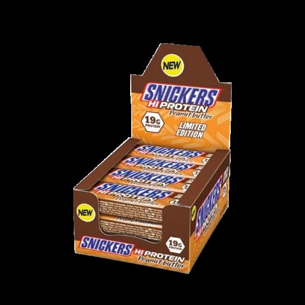 MARS PROTEIN - Snickers High Protein Bar (12x57g) - Peanut Butter Bars und Snacks