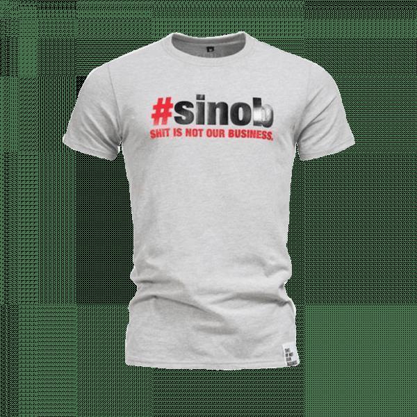 SINOB T-Shirt longer fit Grau Sportbekleidung