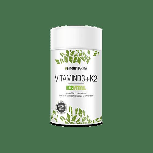SINOB Vitamin D3+K2 60 Kaps Vegane Kapseln