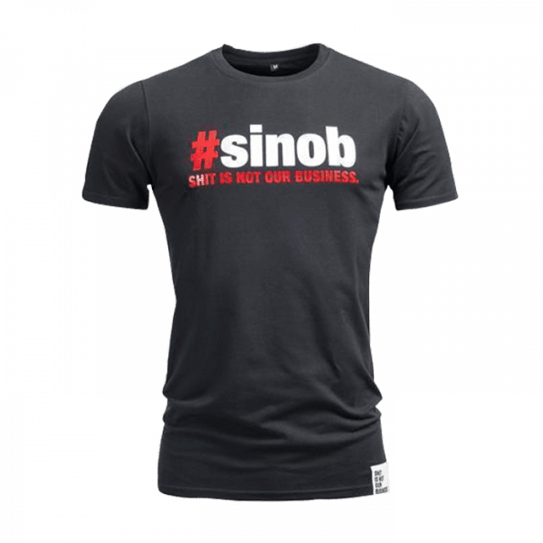 SINOB T-Shirt longer fit Schwarz Sportbekleidung