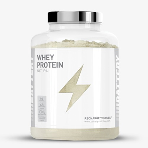 BATTERY WHEY PROTEIN NATURAL 2000g Proteine